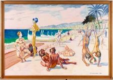 De nøgne på strandpromenaden