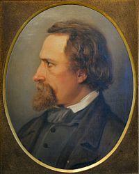 Portræt malt af hustruen 1853