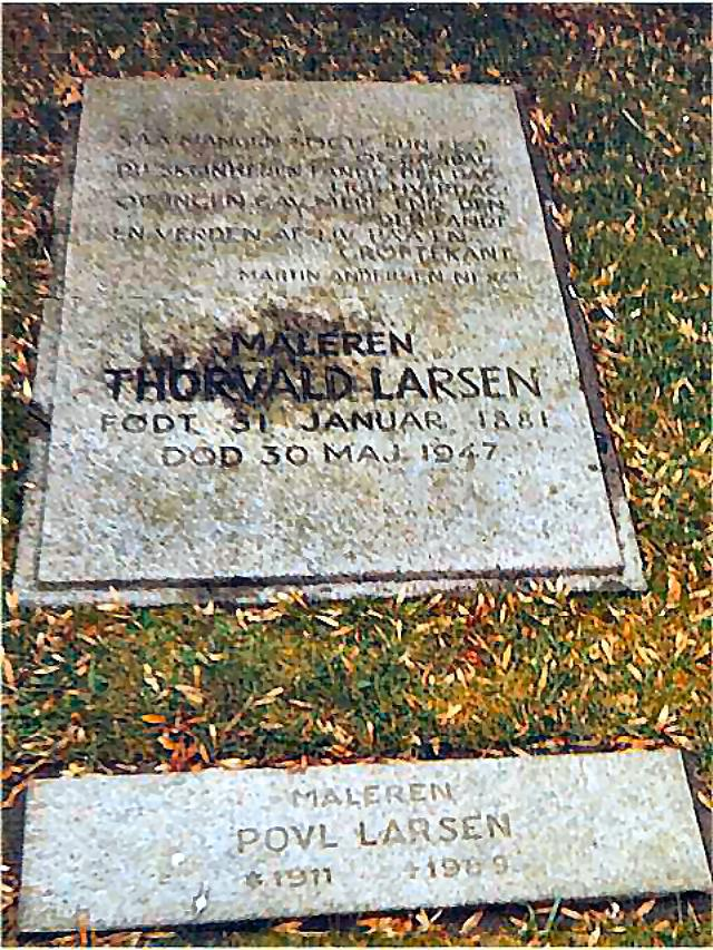 Gravsted for Thorvald og Povl Larsen