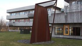 Stålskulptur ved Siemens i Ballerup