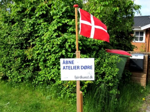 Skilt og flag Åbne Atelierdøre
